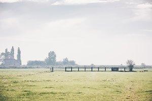 Dutch wide open rural landscape