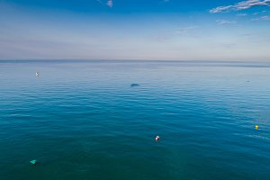 Aerial view of the sea horizon