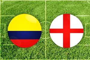 Colombia vs England football match