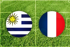 Uruguay vs France football match