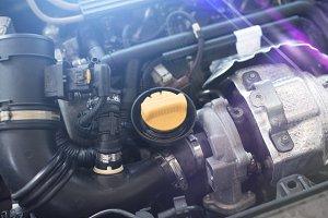 Car engine background