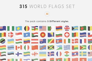 315 World Flags Set