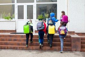 Pupils go to school