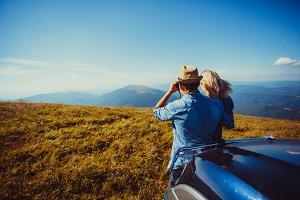 Romantic trip to the mountains