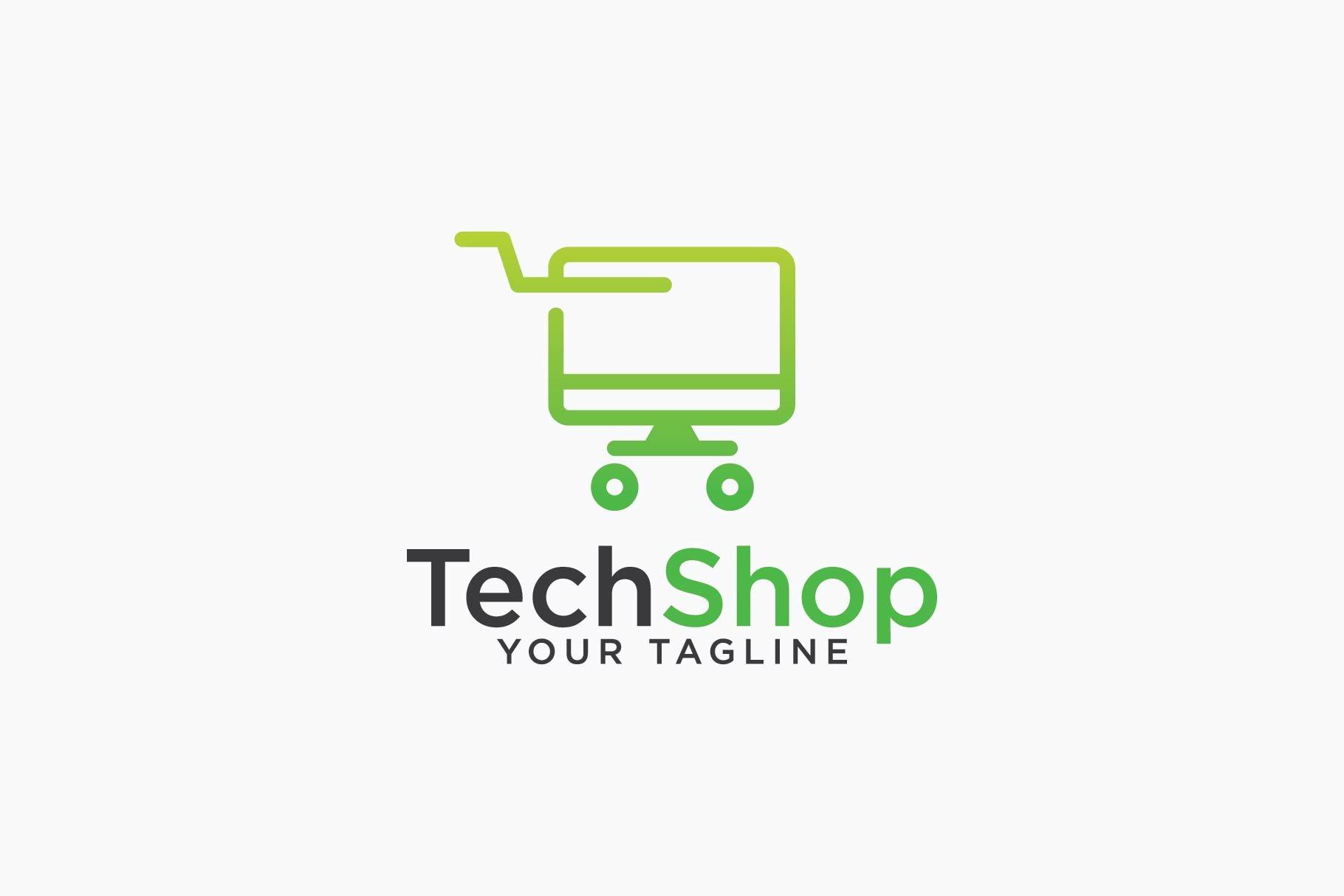 TechShop Logo ~ Logo Templates ~ Creative Market