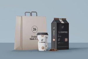 Paper Bag Coffee Pack Mockup 1