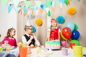 funny party in girl's burthday