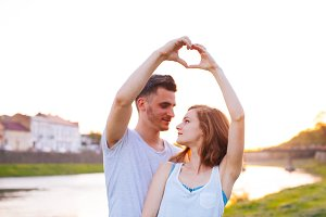 Expressive love by young couple