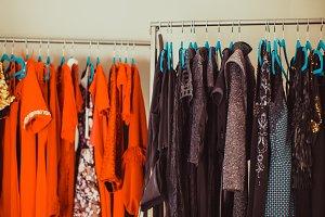 Wardrobe for evening dresses