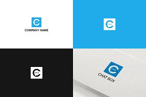 Chat box logo design