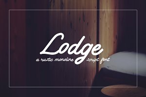 Lodge Script | Rustic & Clean