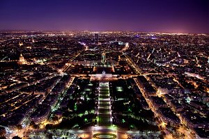 Paris at night, panorama