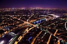 Paris at night - view on Seine River