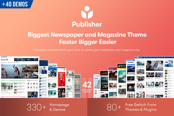 WordPress Magazine Themes - Publisher - Magazine News Blog AMP