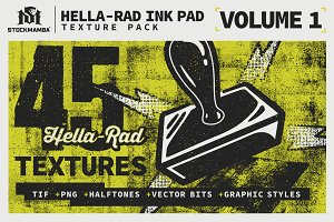 Hella-Rad Ink Pad Texture Pack