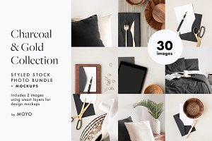 Charcoal & Gold Stock Photo Bundle