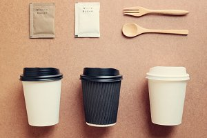 coffee mock up for identity branding