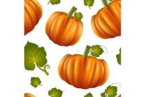 Pumpkins Seamless Pattern Background