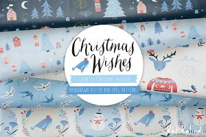 Christmas Wishes Pattern Vectors