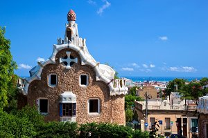 Building in Park Guell, Barcelona