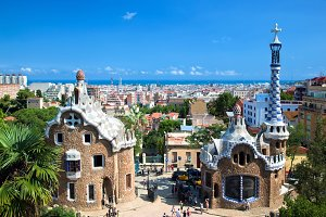 Buildings in Park Guell, Barcelona