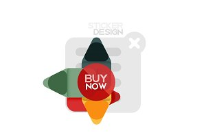 Flat design triangle arrow shape