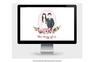 Wedding Website Illustration Art