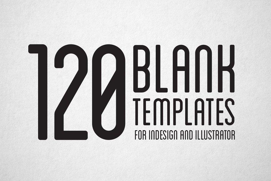120 Print Blank Templates