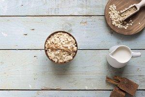porridge oats and vanilla