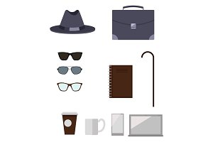 Character Construction Items Vector