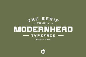 Modernhead Serif Typeface