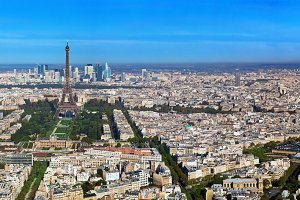 Panorama of Paris, France