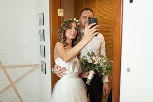 Romantic and happy caucasian couple
