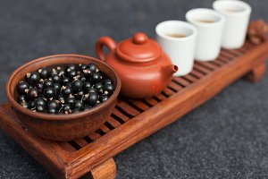 Traditional accessories for tea cere