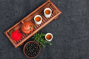 Traditional Chinese tea ceremony wit