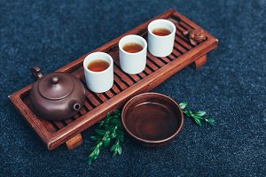 Traditional tea ceremony accessories