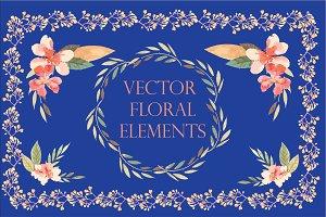 Vector floral elements +BONUS