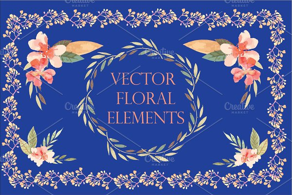 Vector floral elements +BONUS