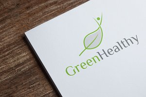Green Healthy Logo Template