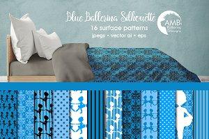 Blue Ballerina Silhouette, AMB-1950