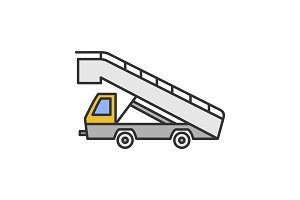 Stair truck color icon