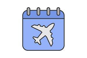 Flight date color icon