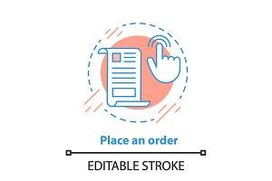 Order placing concept icon