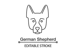 German Shepherd linear icon