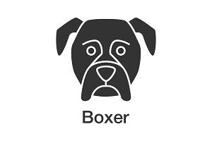 Boxer glyph icon