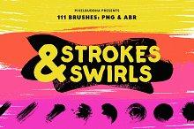 Swirls & Strokes Brushes Set