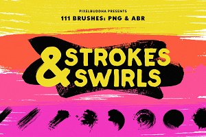 Swirls & Strokes Brushes Set