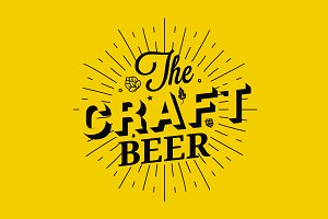 Craft beer vintage lettering.