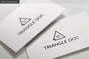 Triangle Document Logo Template