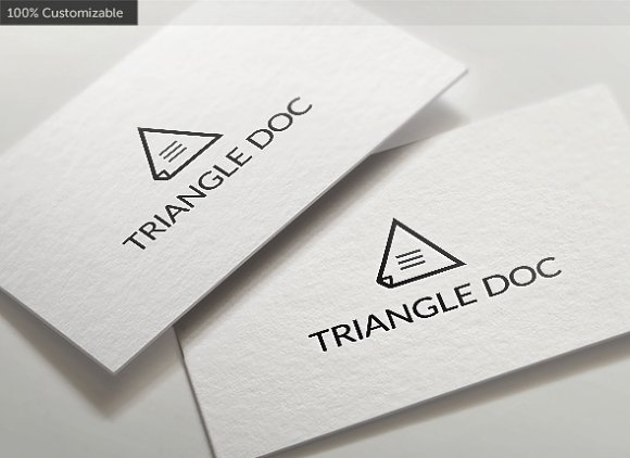 Triangle Document Logo Template in Logo Templates